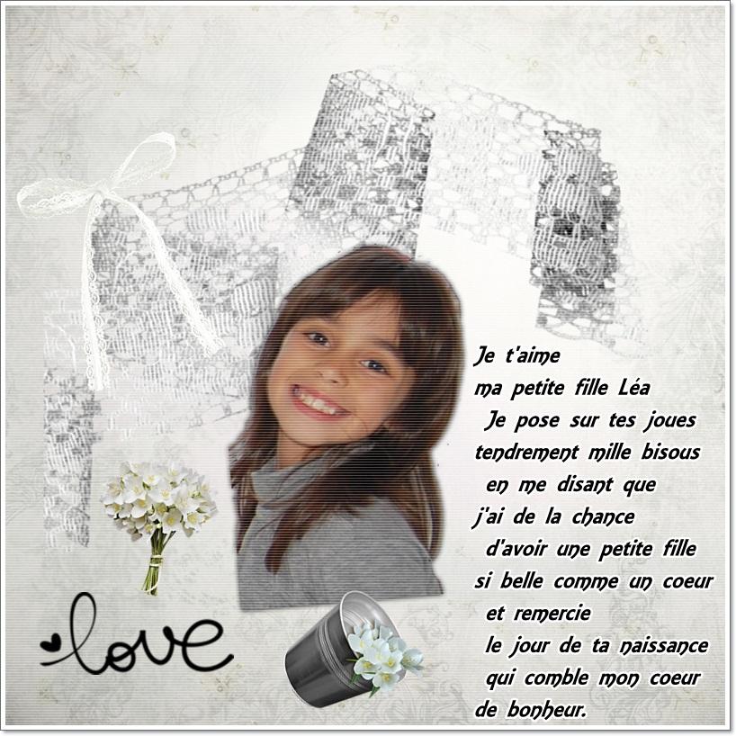 Pour Ma Petite Léa Cherie